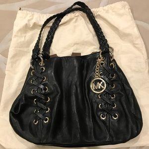 Michael Kors Black & Gold Handbag Purse